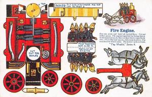 James Henderson Toy Models Series 4 Fire Engine Cutout Postcard