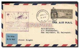 Letter USA 1st flight Brownsville San Lorenzo 1 May 1930