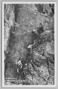 Leiterlsteig Hohe Wand~Germany~Mountain Climbers Team Up~1943 Postage Stamp~RPPC