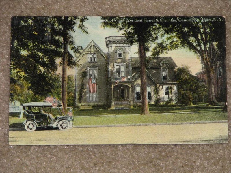 Residence of Vice Pres. James S. Sherman, Genesee St., Utica, N.Y., used