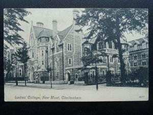 Gloucestershire Cheltenham NEW MOAT LADIES COLLEGE c1907 Postcard by Valentine