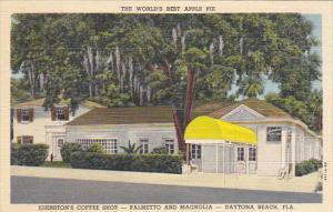 Florida Daytona Johnston's Coffee Shop World's Best Apple Pie Curteich