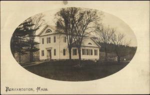Bernardston MA - Powers Institute - Old School  c1910 Real Photo Postcard