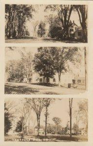 RP: THETFORD HILL , Vermont, 1920-30s ; 3 view postcard