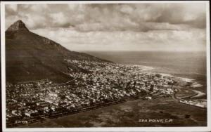 Sea Point Cape Town South Africa Real Photo Postcard