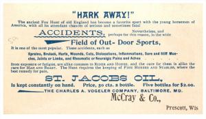 St. James Oil  Trade Card