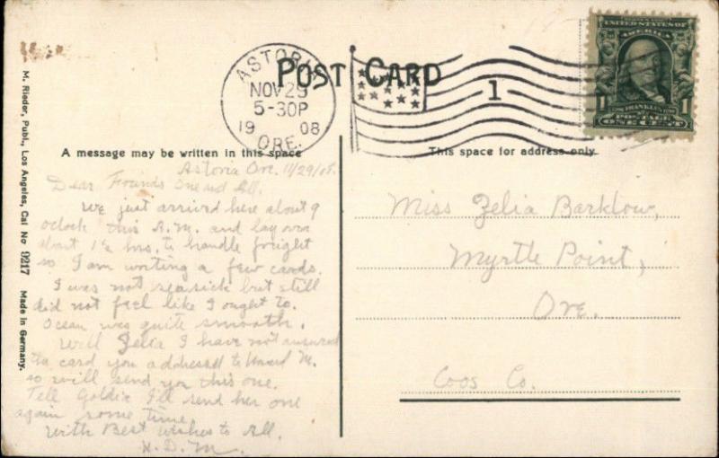 Portland OR The Oaks - Chutes c1910 Postcard