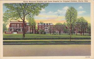Ohio Elyria Memorial Hospital and Gates Hospital For Crippled Children 1942 C...