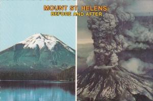 Washington Mount St Helens Before and After The Eruption