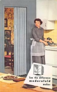 New Castle IN Modernfold Manufacturing  Kitchen Doors Montreal Canada Postcard