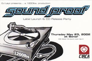 Soud Proof Label Lauch and CD Release Party Vancouver Canada