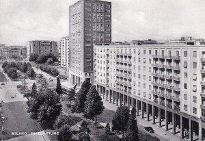 RP; MILANO, Lombardia, Italy, 1920-1940s; Piazza Fiume