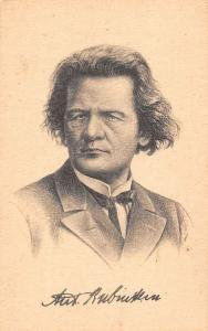 Anton Rubinstein, Russian pianist, composer and conductor, musician, Postcard