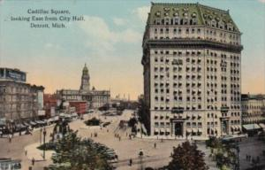 Michigan Detroit Cadillac Square Looking East From City Hall Curteich