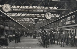 EUSTON , UK , 1900-10s ; Down American Special Train at Railroad Depot