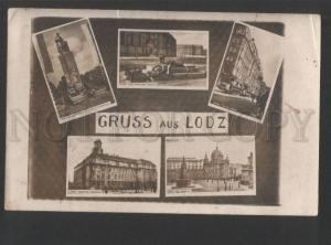 119377 Poland GRUSS aus LODZ Grand Hotel & Gimnasium & etc Old