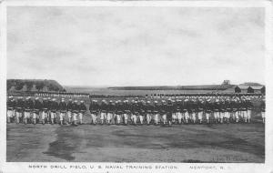 Newport Rhode Island~US Naval Training Station~North Drill Field~Seamen~WWI Era