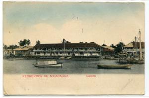 Waterfront Corinto Recuerdos De Nicaragua 1911 postcard