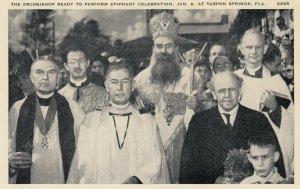 TARPON SPRINGS , Florida , 1910-30s ; Archbishop ready to perform Epiphany Ce...