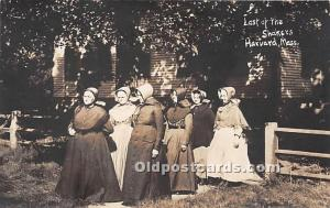 Old Vintage Shaker Post Card Last of the  real photo Harvard, Massachusetts, ...