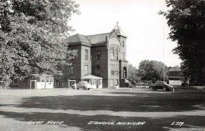 LP39 Standish   Michigan  Postcard RPPC Court House