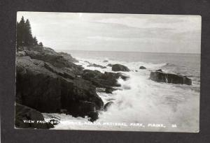 ME View Shore Drive Acadia Nat National Park Maine Real Photo Postcard PC, RPPC