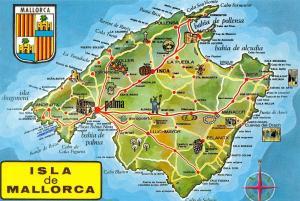 Spain Isla de Mallorca Map Inca La Puebla Arenal lluchmayor