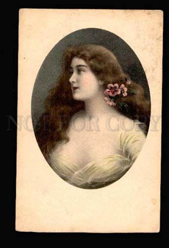 049029 Lady w/ Long Hair Style ASTI old M.M.VIENNE