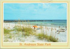 St. Andrews State Park Panama City FL w/ Giannini 21c Stamp Postcard C8