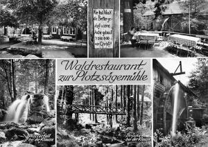 Waldrestaurant zur Plotzsaegemuehle, Wasserfall Klause Bruecke Bridge Mill