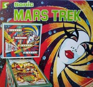 Sonic Mars Trek Pinball FLYER Original NOS 1977 Martian Lady Alien Art Space Age