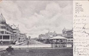ASBURY PARK, New Jersey, PU-1905; The hotel district at Fourth Avenue