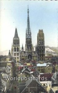Notre Dame Cathedral Rouen, France, Carte, Unused