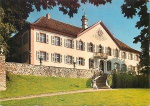 Postcard Germany schloss burgeln house tower clock architecture sculpture