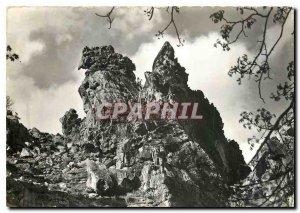 Modern Postcard Corsica Ile de Beaute Curious rock in the parade of the Scala...