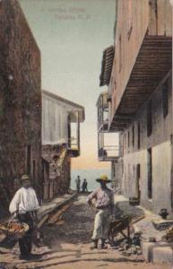 Panama A Narrow Street Scene Panama City