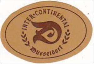 GERMANY DUESSELDORF HOTEL INTER CONTINENTAL VINTAGE LUGGAGE LABEL