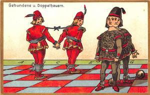 Artist Robert G Schmidt German Chess Game Gebundene u. Doppelbauern Karte PC