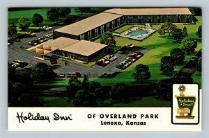 Lenexa KS, Holiday Inn Of Overland Park, Kansas Chrome Postcard