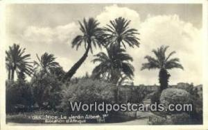 Nice, France, Carte, Postcard Real Photo - Le Jardin Albert  Le Jardin Albert