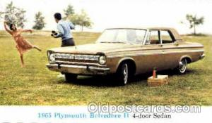1965 Plymouth Belvedere 2 Auto, Automobile, Car, Postcard Post Card  1965 Ply...