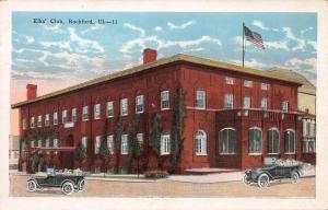 Elks' Club, Rockford, Illinois,  Early Postcard, Unused
