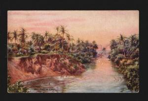 075905 CEYLON Wellawatta Canal  Vintage colorful TUCK PC