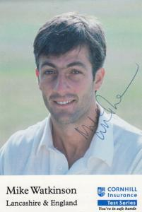 Mike Watkinson Hand Signed Cornhill Cricket Test Series Photo Card