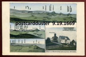 1669 - GERMANY Gruss aus Mueckenberg 1920s Erzgebirge Restaurant