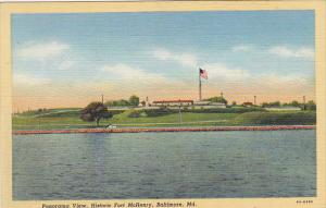 Panorama View Fort McHenry Baltimore Maryland Curteich
