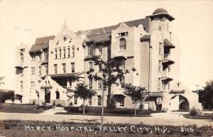 Valley City North Dakota Mercy Hospital Real Photo Antique Postcard K98693