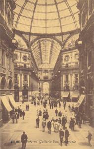 MILANO, Lombardia, Italy, 1900-1910's; Interno Galleria Vitt. Emanuele