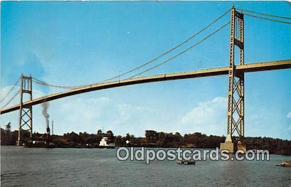 Bridges Vintage Collectable Postcards Thousand Islands, NY, USA Thousand Isla...