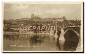 Old Postcard Praha Hradcany A Most j Manesa
